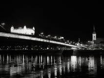 布拉索夫晚上,ciity的好的看法 库存照片