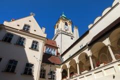 布拉索夫老城镇厅 免版税库存照片