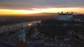 布拉索夫都市风景  股票视频