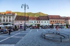 布拉索夫,罗马尼亚- 2017年8月10日, :布拉索夫委员会正方形(Pi 库存照片