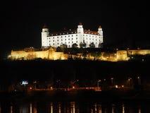 布拉索夫-城堡夜-斯洛伐克 免版税库存照片