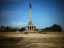 布拉索夫- Slavín战争纪念建筑和公墓下落的苏联军队的 库存照片