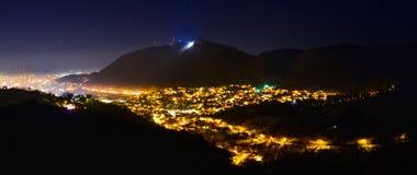 布拉索夫全景在夜之前 库存照片
