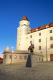 布拉索夫城堡在晚上 免版税库存照片