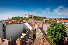 布拉索夫城堡小山 库存图片