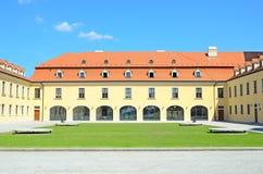 布拉索夫城堡庭院  图库摄影