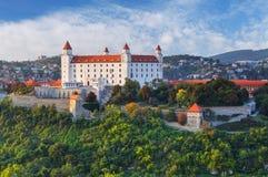 布拉索夫城堡晚上,斯洛伐克 库存图片