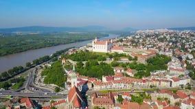 布拉索夫城堡鸟瞰图 股票视频