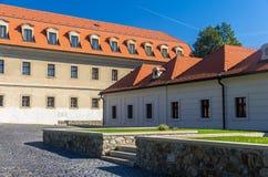 布拉索夫城堡,斯洛伐克法院  图库摄影