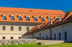 布拉索夫城堡,斯洛伐克法院  库存照片