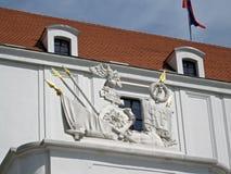 布拉索夫城堡-庭院 库存照片