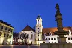 布拉索夫大厅老城镇 免版税库存照片