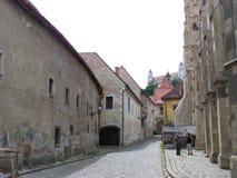 布拉索夫的历史的中心 免版税库存图片