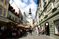 布拉索夫老镇(斯洛伐克) 图库摄影
