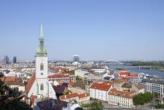 布拉索夫,斯洛伐克看法  库存照片