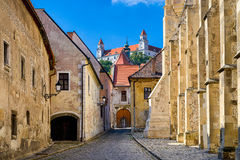 布拉索夫,斯洛伐克老镇  库存照片