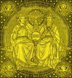 布拉索夫,斯洛伐克, 2016年11月- 21日:三位一体石版印刷在Missale Romanum 图库摄影