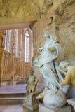 布拉索夫,斯洛伐克- 2014年2月5日:巴洛克式的雕象洁净在哥特式圣约翰福音传教士教堂 库存照片