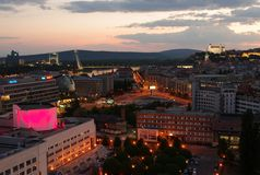 布拉索夫,斯洛伐克- 2016年5月08日 库存照片