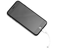 布拉索夫,罗马尼亚- 2016年11月26日:iPhone 7黑表面无光泽的新的App 库存图片