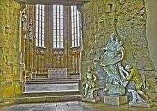 布拉索夫-巴洛克式的雕象洁净在哥特式圣约翰福音传教士教堂 库存照片