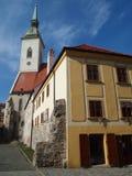 布拉索夫-圣马丁的大教堂2016年斯洛伐克 库存照片