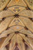 布拉索夫-在哥特式天花板的壁画从圣马丁大教堂长老会的管辖区。 免版税库存照片