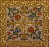布拉索夫-在荐骨的对象(伯萨)的符号needelwork从19 分 在圣Martins大教堂里 图库摄影