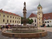 布拉索夫-斯洛伐克的首都2016年斯洛伐克 库存图片