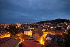 布拉索夫-看法在夜之前 免版税库存图片