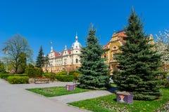 布拉索夫townhall, neobaroque建筑学样式 免版税库存照片