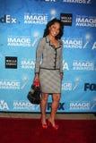 黛布拉Matin追逐到达2011个NAACP图象奖被提名人招待会 免版税图库摄影