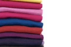 布料五颜六色的织品 免版税库存照片