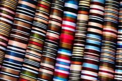 布料五颜六色的藏语 免版税库存图片