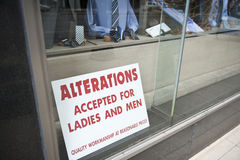 布料商店在芝加哥 库存图片