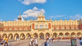 布料大厅在克拉科夫,波兰 影视素材