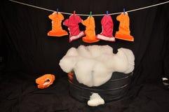 布料尿布洗衣店洗涤物 免版税库存照片