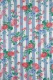 布料用花装饰的表 库存图片