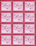布料用花装饰的表 库存照片