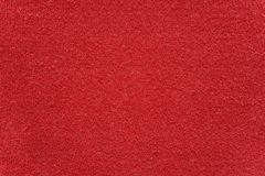 布料红色纹理毛巾 库存图片