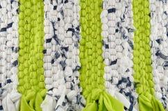 布料纹理-绿色和白色 免版税库存图片