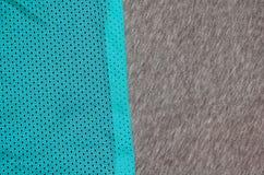 布料纺织品表面顶视图  特写镜头起皱了加热器并且编织了与稀薄的条纹图形的织品纹理 体育衣物 库存照片