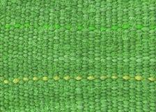 布料绿色行 免版税库存照片
