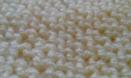 布料羊毛黄色组织纹理细节 免版税库存图片