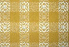 布料表黄色 免版税库存照片