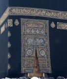 布料门金黄kaaba makkah 免版税库存图片