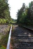 布料紧固重点用栏杆围铁路 免版税库存图片