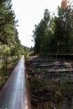 布料紧固重点用栏杆围铁路 库存图片