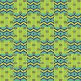布料kente 无缝几何的模式 免版税库存图片