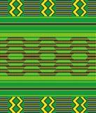 布料kente 无缝的模式 向量例证
